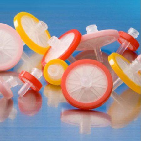Hydrophilic Polytetrafluoroethylene (PTFE) Syringe Filters, 13mm, 0.45µm