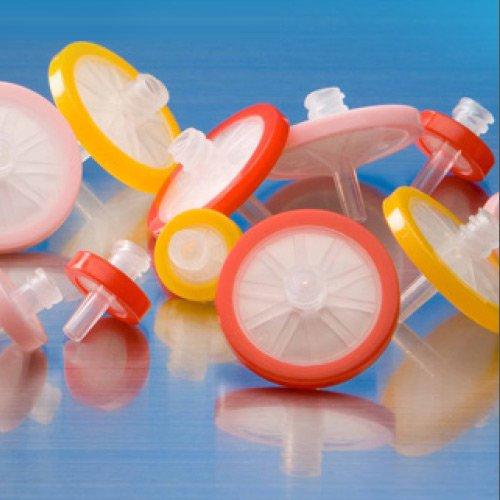 Hydrophilic Syringe Polyvinylidene Fluoride (PVDF) Syringe Filters, Hydrophilic, 25mm, 0.22µm
