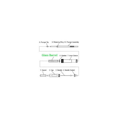 Hamilton Glass Barrel for Constant Rate Syringe - 2µL - 50µL.  Code: CR700-50