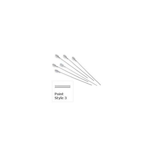 28 gauge, Small Hub RN Hamilton Needle, 2 inch. Point style 3. 6 pack.