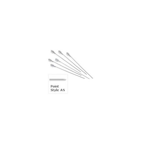 5µL and 10µL. 23s gauge, Hamilton Small Hub Replacement Needles for Agilent 7683,7673 GC. Length: 1.71 inch, Point style AS. 6 pack.