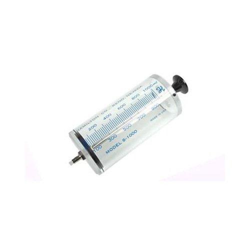 1L, Model S1000 TLL Hamilton Super Syringe (Teflon Luer lock), No needle