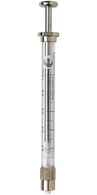 SGE 008025 1mL Gas Tight Syringe Fixed Luer Lock Needle