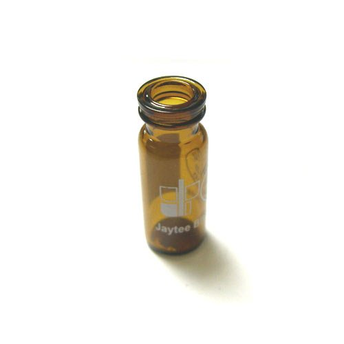 Crimp snap vial amber write-on patch 2mL