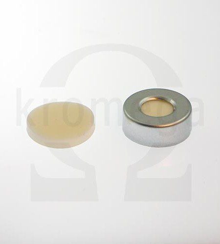 Open Top Aluminium Crimp Cap (10mm hole) / 20mm Septa
