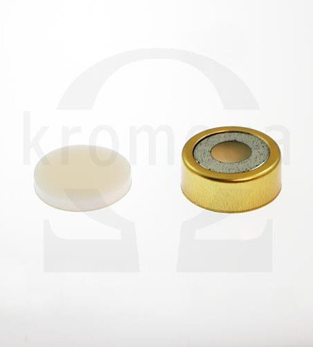 20mm Magnetic Crimp Cap (8mm hole) with Septa
