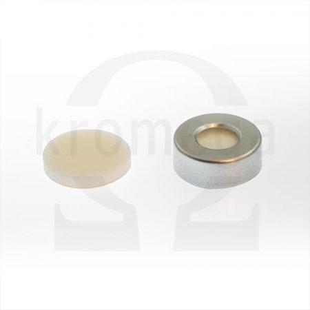 20mm Open Top Aluminium Crimp Cap (10mm hole)