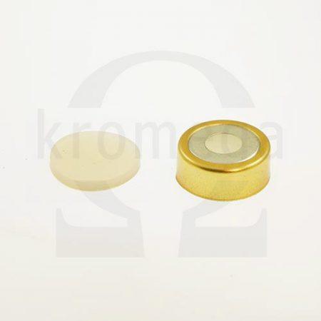 20mm Magnetic Crimp Cap (8mm hole) with Septa, Natural
