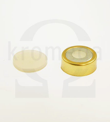 20mm Magnetic Crimp Cap (8mm hole) with Septa, Natural