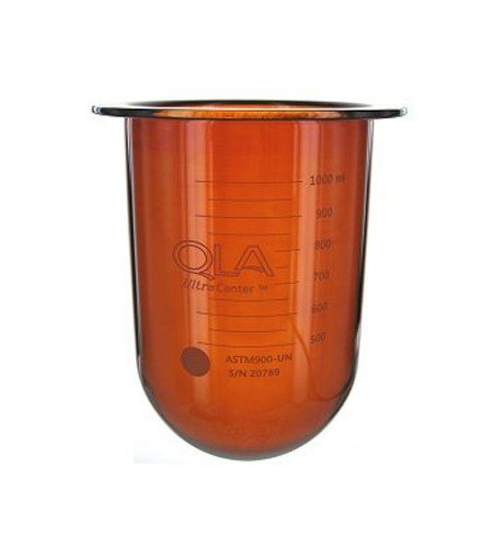 1000mL amber UltraCenter precision glass vessel, serialized