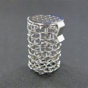 "A QLA 8 mesh basket sinker. 316 stainless steel, 1.06"" (26.9mm) long x .62"" (15.7mm) wide."