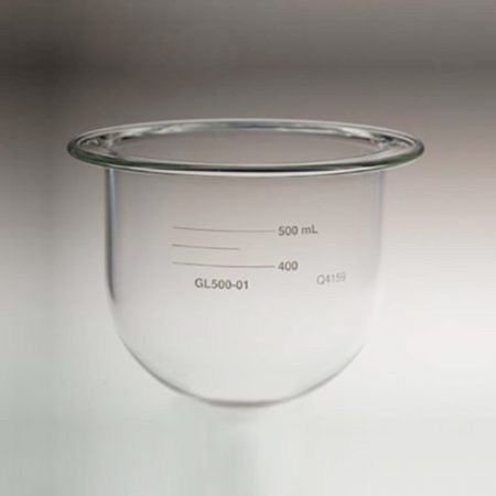 500mL clear glass vessel   Like Agilent VanKel / Varian 12-5060
