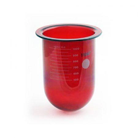 1000mL amber glass vessel for Distek | No ring | Serialized