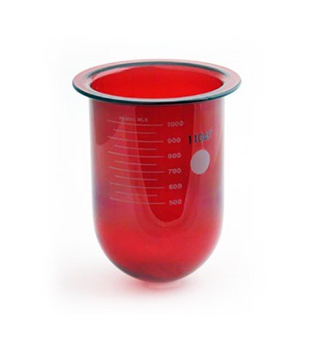 1000mL amber glass vessel for Distek   No ring   Serialized
