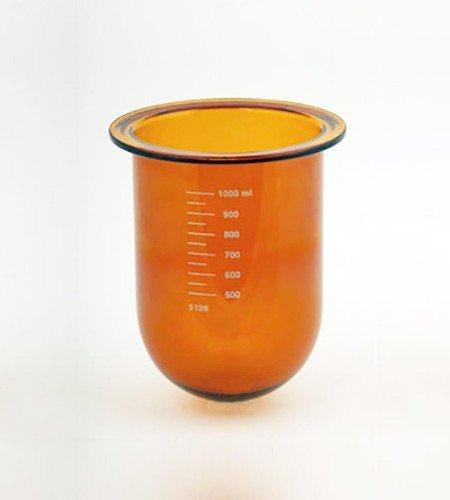1000mL amber glass vessel | Like Erweka 80-000-1004