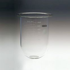 1000mL clear glass vessel for Distek No ring, serialized