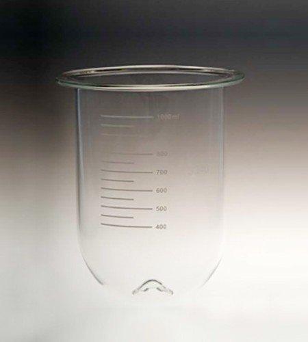 1000mL clear glass PEAK vessel | Like VanKel / Varian 12-5500