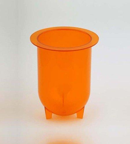 1000mL amber plastic footed vessel for Distek dissolution