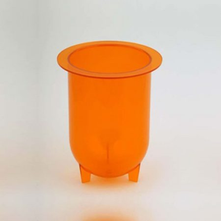 1000mL amber plastic footed vessel for Hanson dissolution