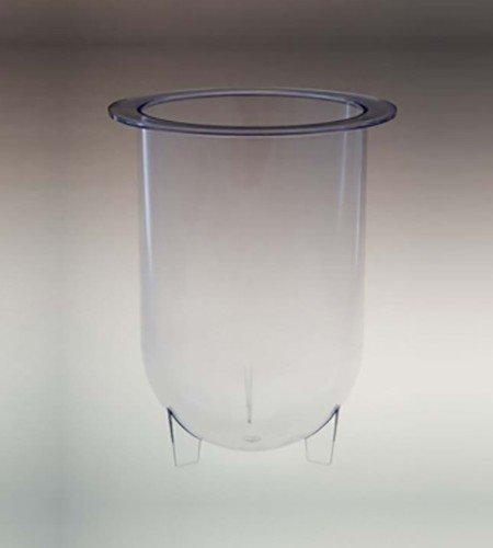 1000mL clear plastic footed vessel for Erweka dissolution baths