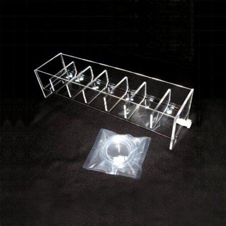 6 position acrylic rinse tray for VanKel / Varian | Like 17-1300