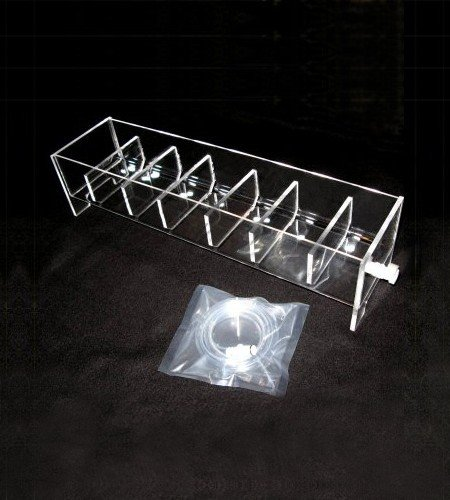 6 position acrylic rinse tray for VanKel / Varian | Like 17-1300