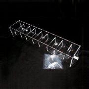 8 position acrylic rinse tray for VanKel / Varian. Like 17-1310