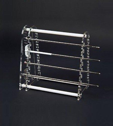 16 position paddle / basket shaft holder for dissolution baths