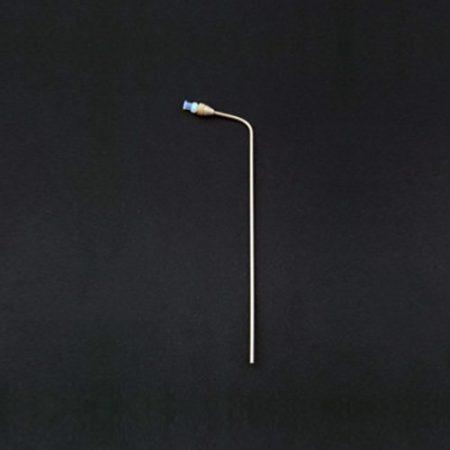 "195mm bent PEEK 1/8"" dissolution cannula with PEEK luer lock"