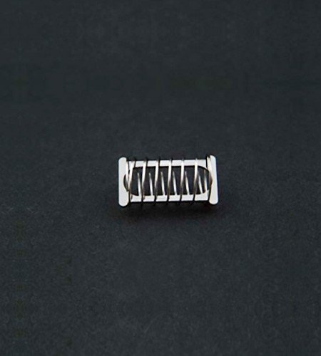 Spring style dissolution capsule sinker. 316 SS, 18mm x 6mm