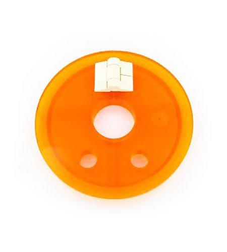 Amber hinged cover with large centre hole | Distek dissolution