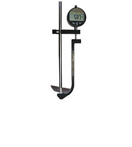 Digital depth gauge assembly for dissolution baths