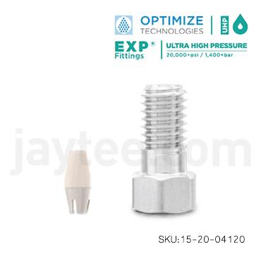 EXP Hex-Head Fittings Titanium HybridFerrules - 15-24-04120
