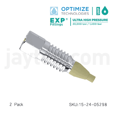EXP2 10-32 waters port adapter 15-24-05298