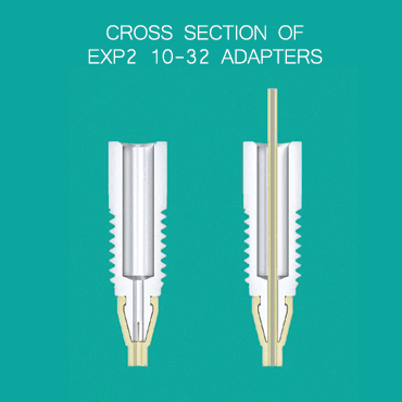 EXP2 adapter 10-32 cross section